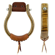 Don Orrell Stirrups Oxbow Stirrup Premier - Tiger Maple / 2 inch