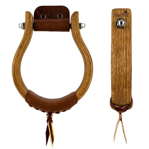 Don Orrell Stirrups Oxbow Stirrup Rancher - Stained Oak / 2 inch