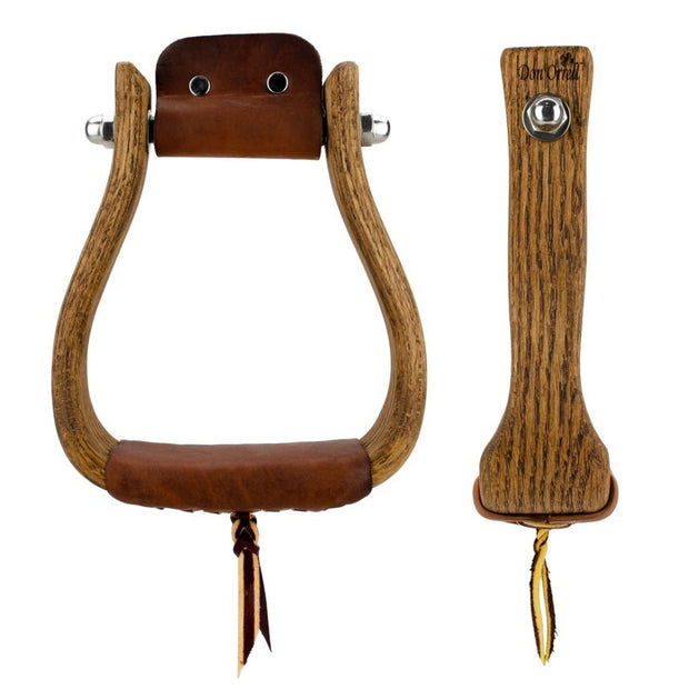 Don Orrell Stirrups Tapered Stirrup Rancher - Stained Oak / 2 inch