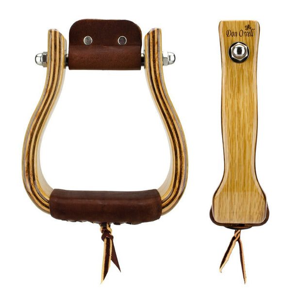 Don Orrell Stirrups Tapered Stirrup Standard - White Oak / 2 inch
