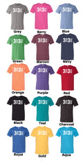 3 Up 3 Down - Unisex Triblend Tee (You pick the color tee)