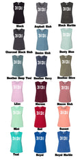 3 Up 3 Down - Ladies Flowy Muscle Tank (You pick the color tank)