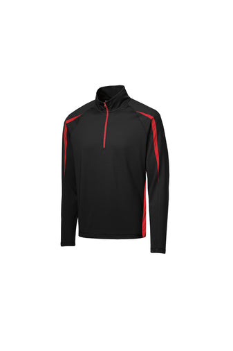 Sport-Wick® Stretch 1/2-Zip Colorblock Pullover - Ankeny Energy