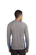 Adult -  Long Sleeve Heather Colorblock Contender™ Performance Tee - Ankeny Magic