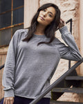 Ladies Lazy Day Burnout French Terry Sweatshirt - On Hand