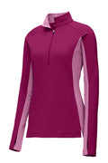 Ladies Sport-Wick® Stretch Contrast 1/2-Zip Pullover - Bright Beginnings