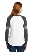 Ladies Game Long Sleeve V-Neck Tee - North Polk (Circle)