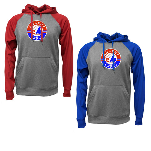 Adult - Raglan Hooded Fleece - Expos