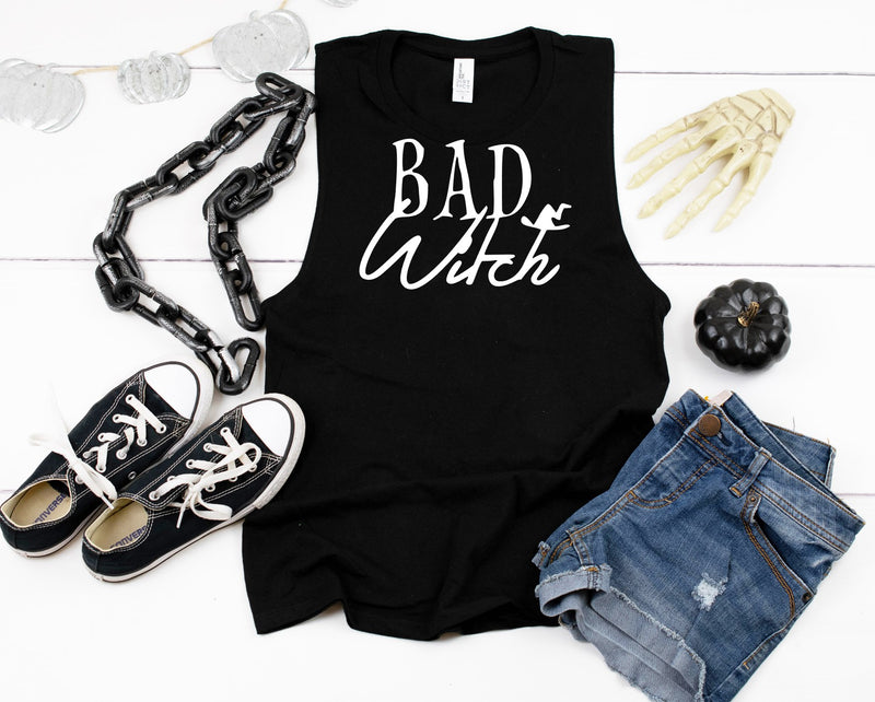 Bad Witch - Ladies Flowy Muscle Tank
