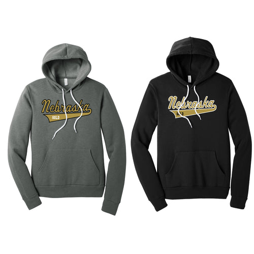Unisex Hooded Pullover Sweatshirt - Nebraska Gold