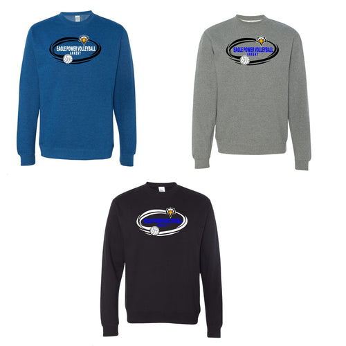 Unisex Midweight Sweatshirt - Eagle Power Volleyball