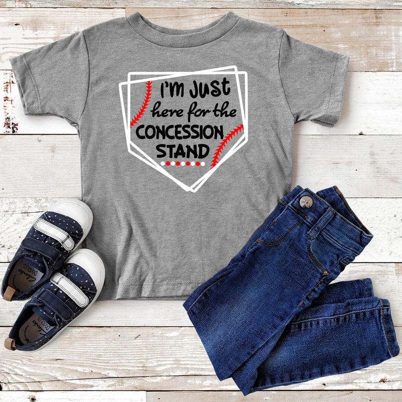I'm just here for the concession stand-  Unisex Triblend Tee (2 T-Shirt Color Options)