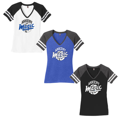 Adult -  Ladies Game V-Neck Tee - Ankeny Magic