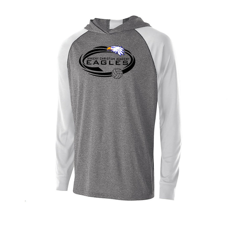 Youth - Echo Hooded Performance LS Tee - Ankeny Christian Academy