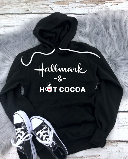 Hallmark & Hot Cocoa - Unisex Hooded Pullover Sweatshirt