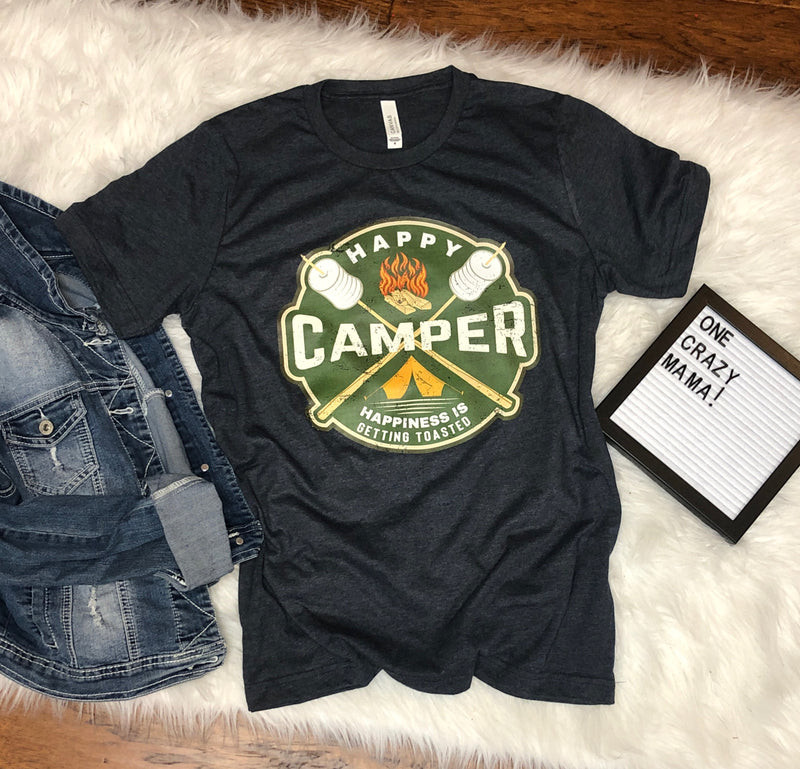 Happy Camper - Unisex Triblend Tee (Size M Available)