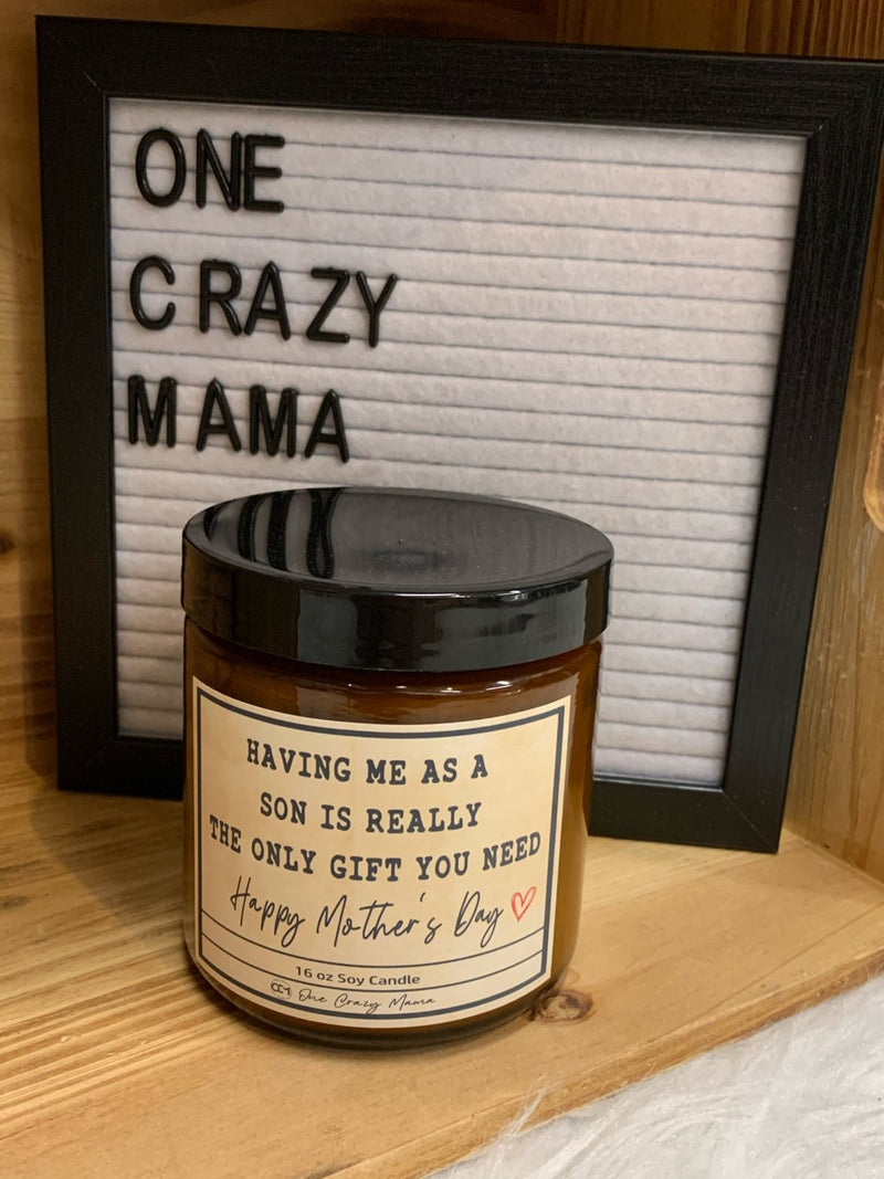 Mother's Day - Having me as a son.... - 16OZ Soy Candle