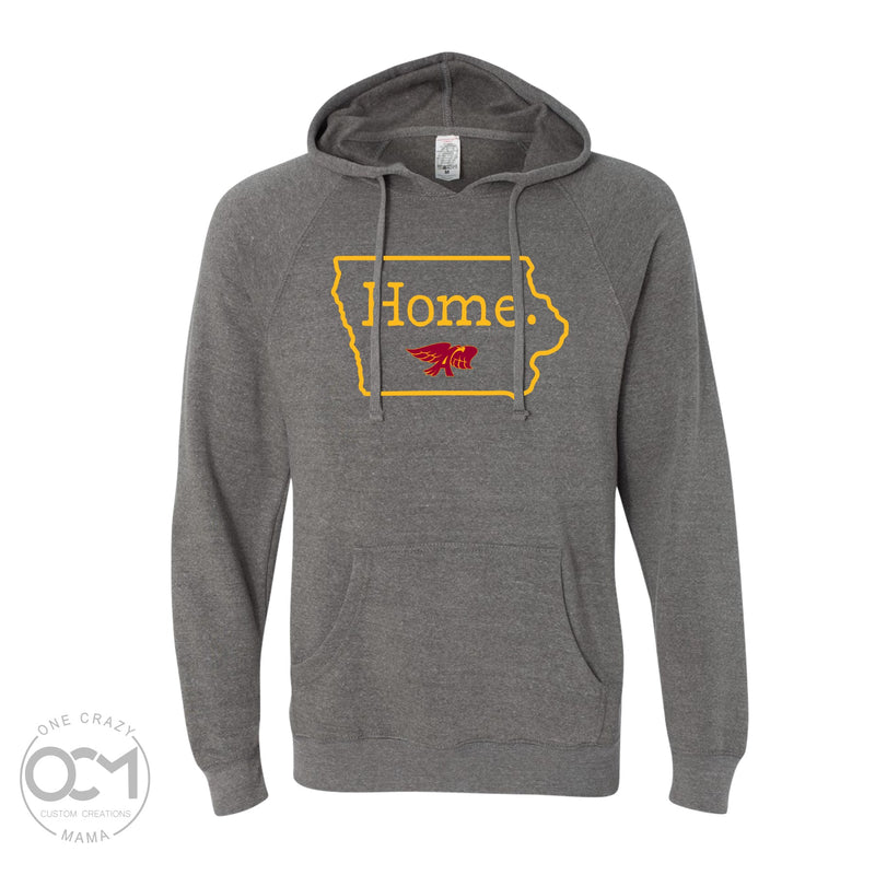 Home (Hawks) -  Unisex Special Blend Raglan Hooded Sweatshirt