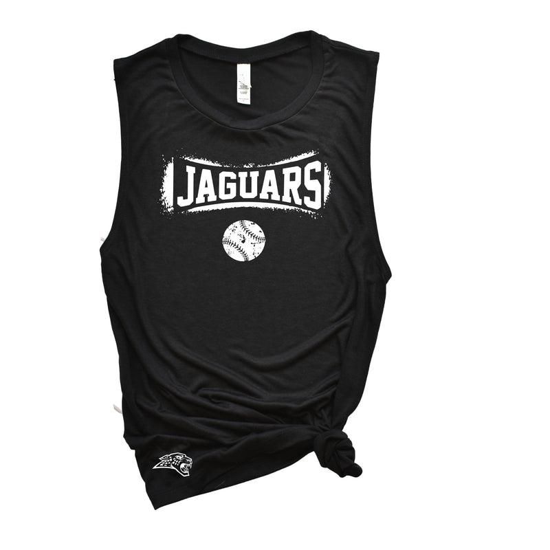 Jaguars Baseball - Ladies Flowy Muscle Tank (2 Tank Colors)