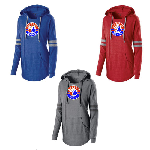 Adult - Ladies Low Key Pullover Hooded Tee - Ankeny Expos