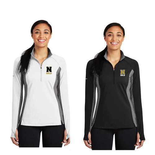 Ladies Sport-Wick® Stretch Contrast 1/2-Zip Pullover - Nebraska Gold