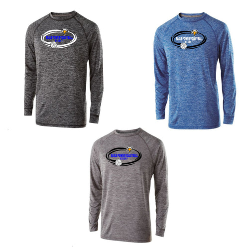Unisex Electrify Long Sleeve Performance Shirt - Eagle Power Volleyball