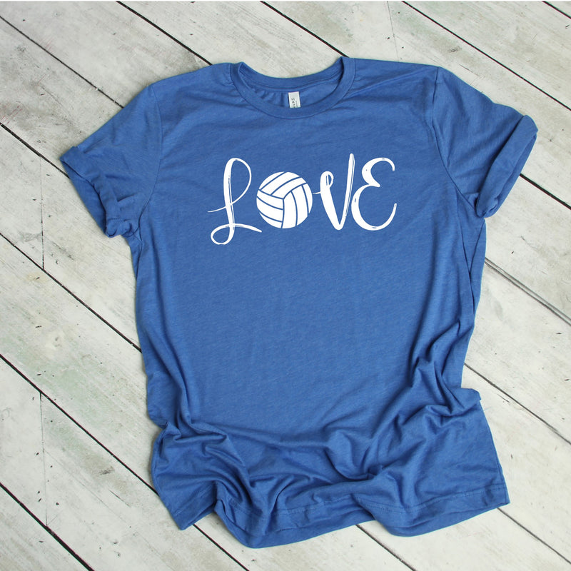 Volleyball Tee LOVE - Unisex (Pick your color tee)