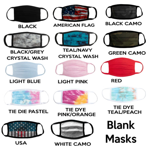 Comfort USA Face Masks (BLANK)