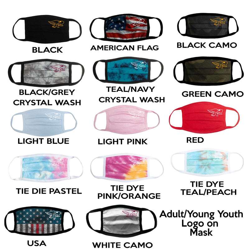 Adult/Young Youth - Comfort USA Face Masks (LOGO or PERSONALIZED) - Prairie Trail Elementary
