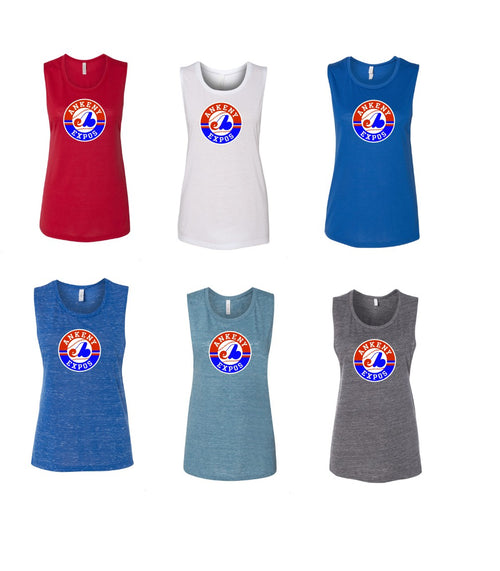 Adult - Ladies Flowy Muscle Tank - Ankeny Expos