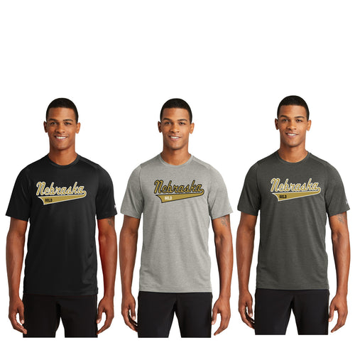 Unisex Performance Crew Tee - Nebraska Gold