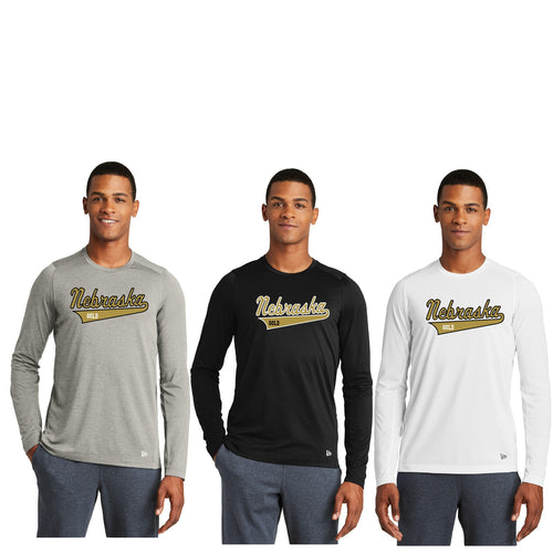 Unisex Performance Long Sleeve Crew Tee - Nebraska Gold