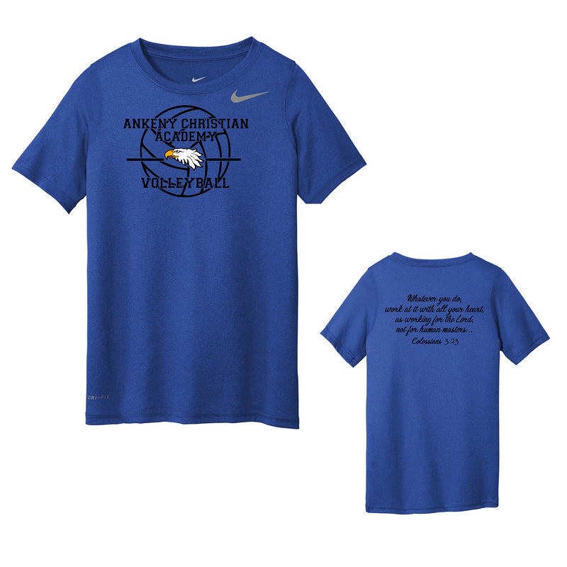Youth Nike Youth Legend Tee - Ankeny Christian Academy (2 Color Options)