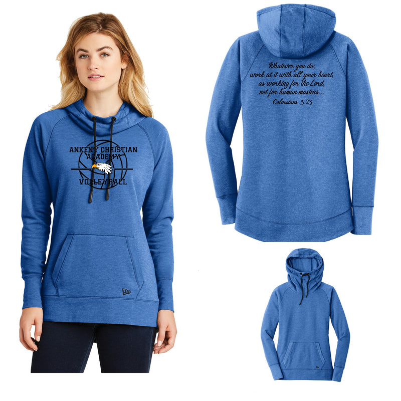 Ladies Tri-Blend Fleece Pullover Hoodie - Ankeny Christian Academy (2 Color Options)