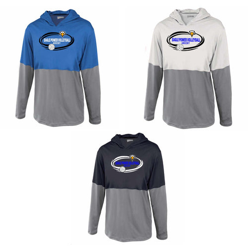 Youth Split Shooter Performance Hooded tee - Eagle Power Volleyball