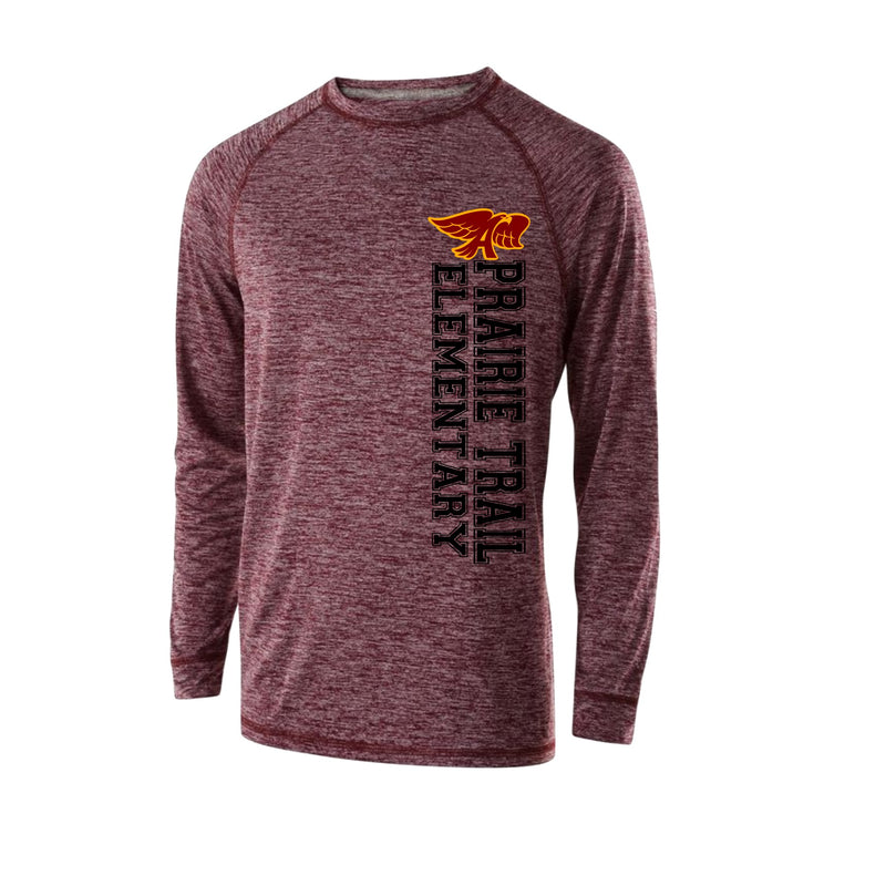 Youth - Electrify Long Sleeve Performance Tee - Prairie Trail Elementary