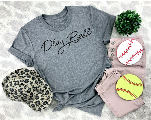 Play Ball...Unisex Triblend Tee (Pick your color tee)