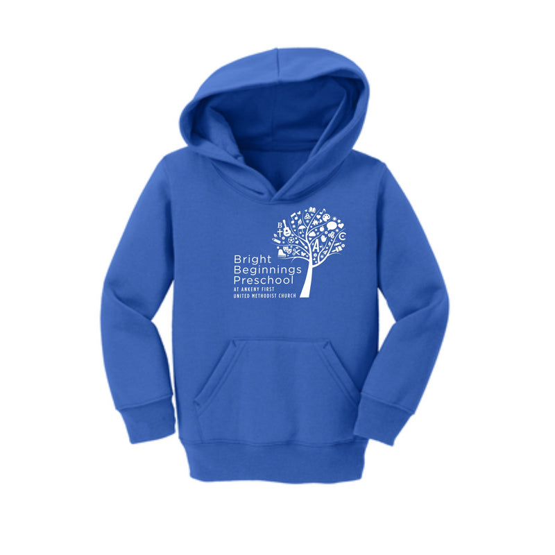 Toddler Core Fleece Pullover Hooded Sweatshirt (You pick the color hoodie) - Bright Beginnings