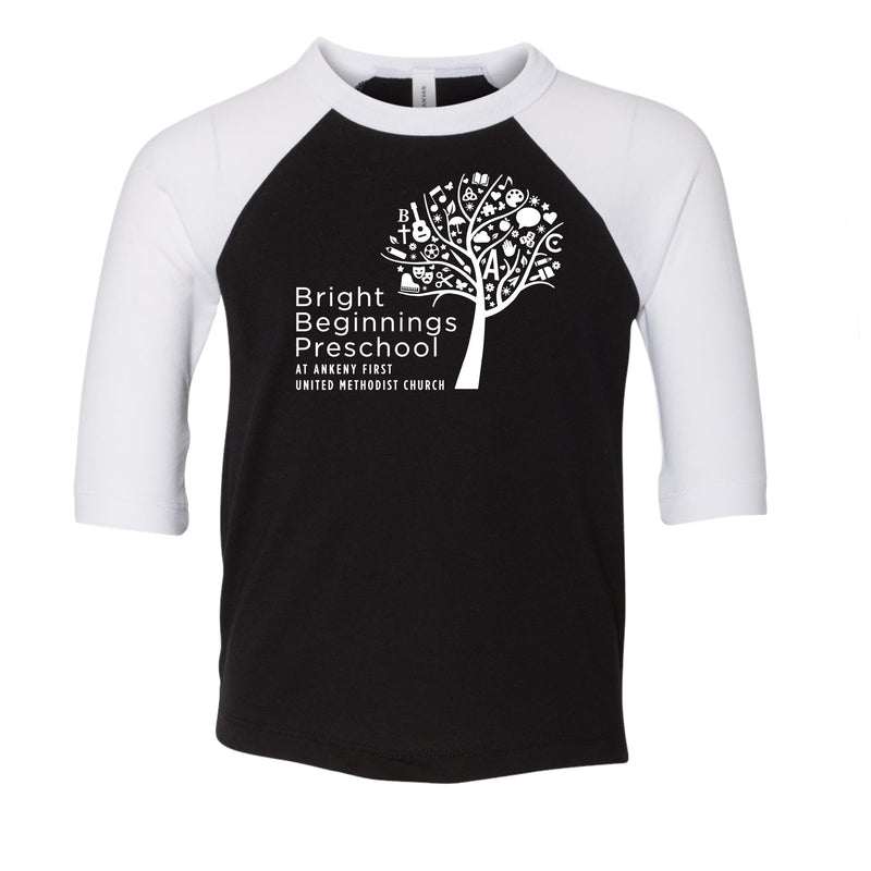 Youth - 3/4 Sleeve Baseball Tee (You pick the color) - Bright Beginnings