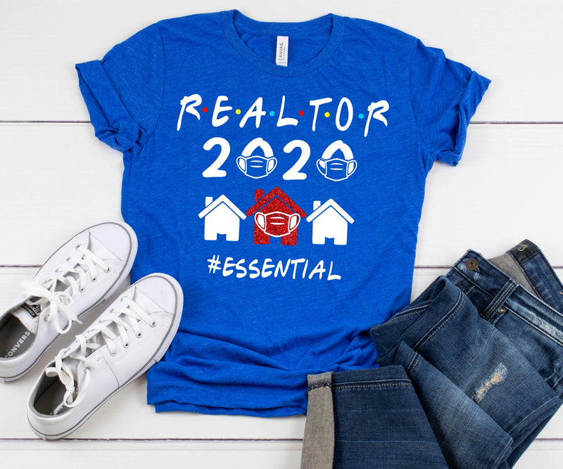 Realtor 2020 #Essential - Unisex Crewneck and Vneck Tee