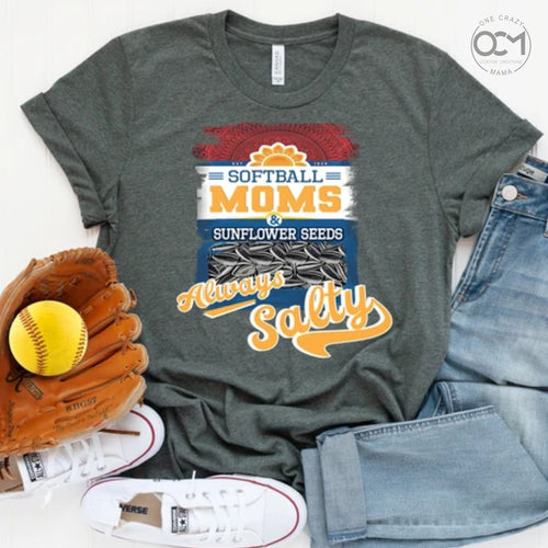 Softball Moms & Sunflower Seeds - Unisex Jersey Tee