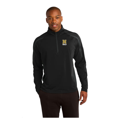 Sport-Wick® Stretch 1/2-Zip Colorblock Pullover -  Nebraska Gold