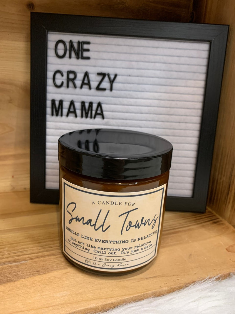 Small Towns - 16 OZ Wood Wick Candles