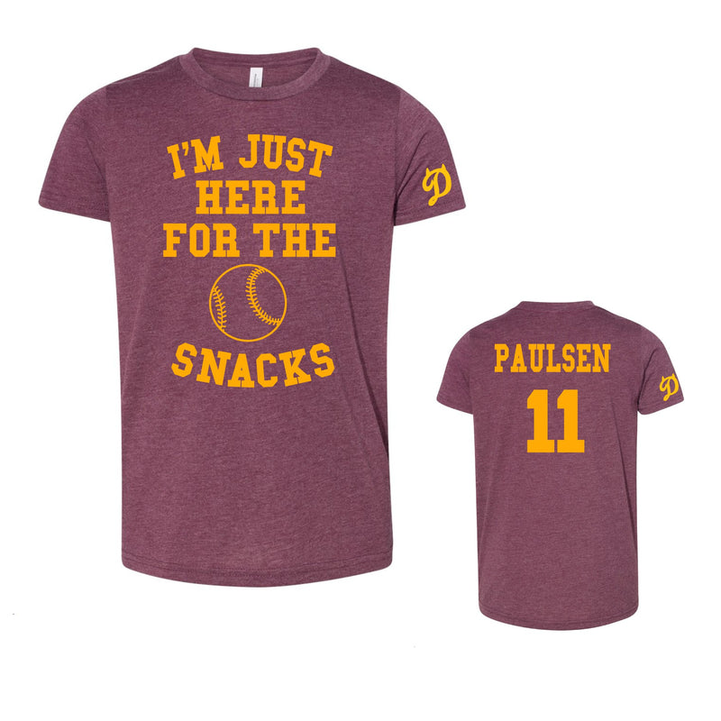 Youth/Adult - Unisex Triblend Tee - I'm Just Here for the Snacks - Diablas