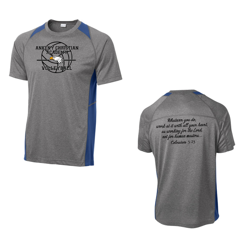 Youth Colorblock Contender Perforamnce Tee - Ankeny Christian Academy (2 Color Options)