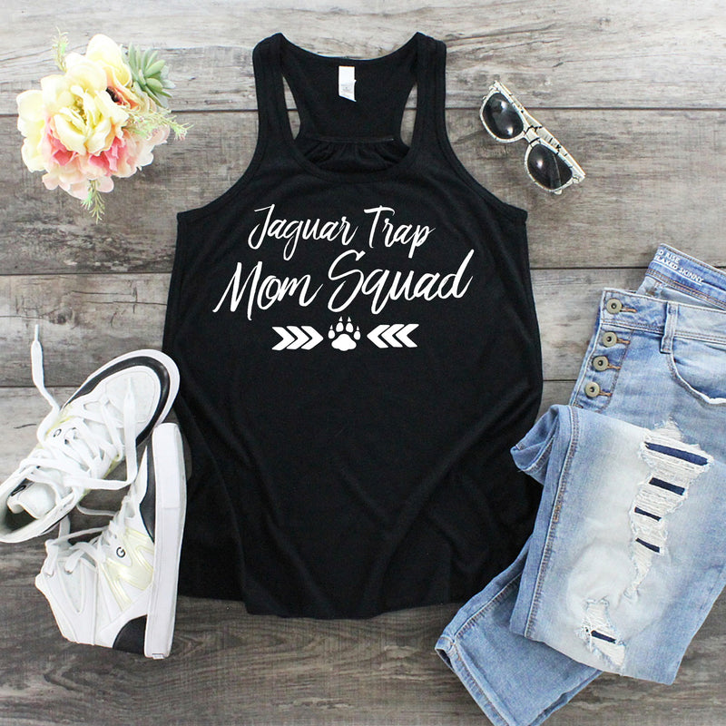 Ladies Flowy Racerback Tank - Centennial Trap (Available in black and grey)