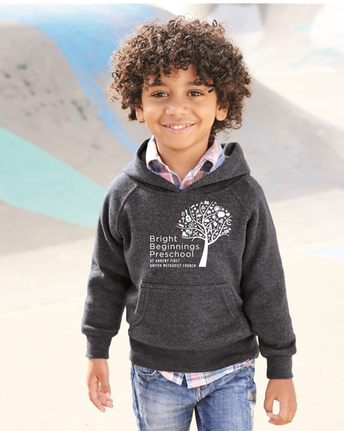 Toddler Raglan Hooded Sweatshirt (You pick the color hoodie) - Bright Beginnings