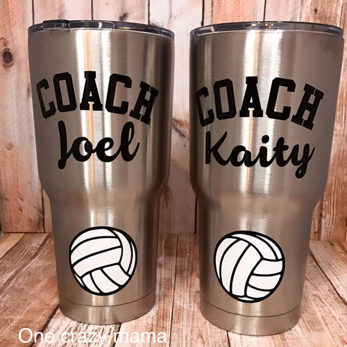 Steel Tumbler - Volleyball - 30 oz