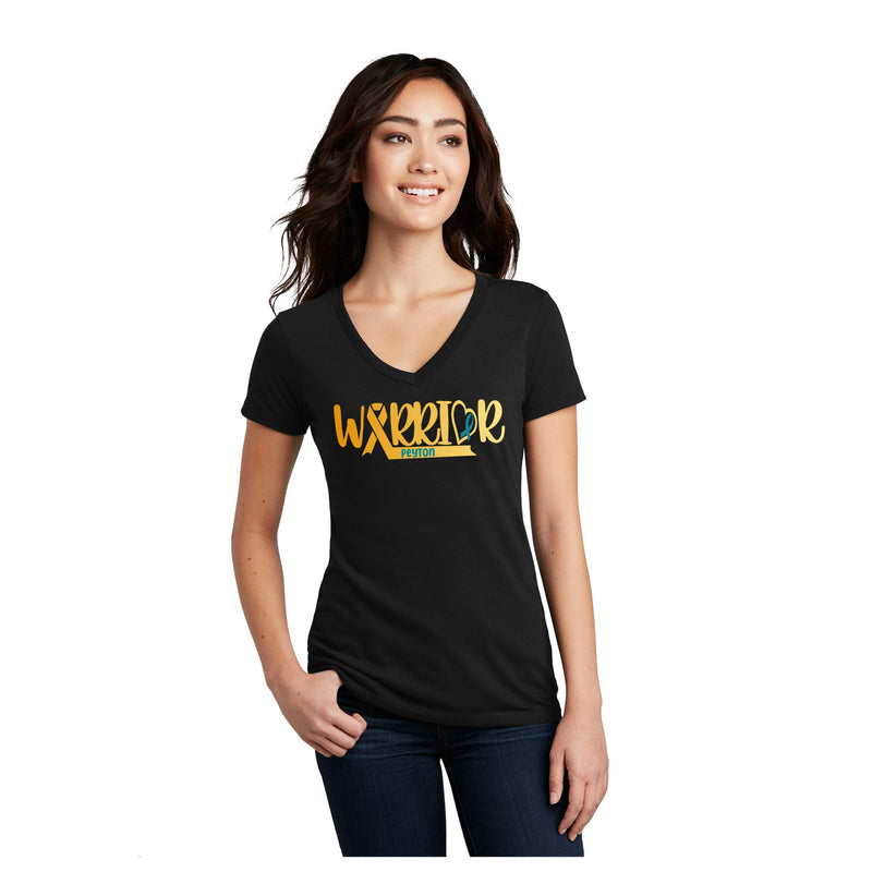 Ladies- Unisex Triblend Vneck Tee - Warrior