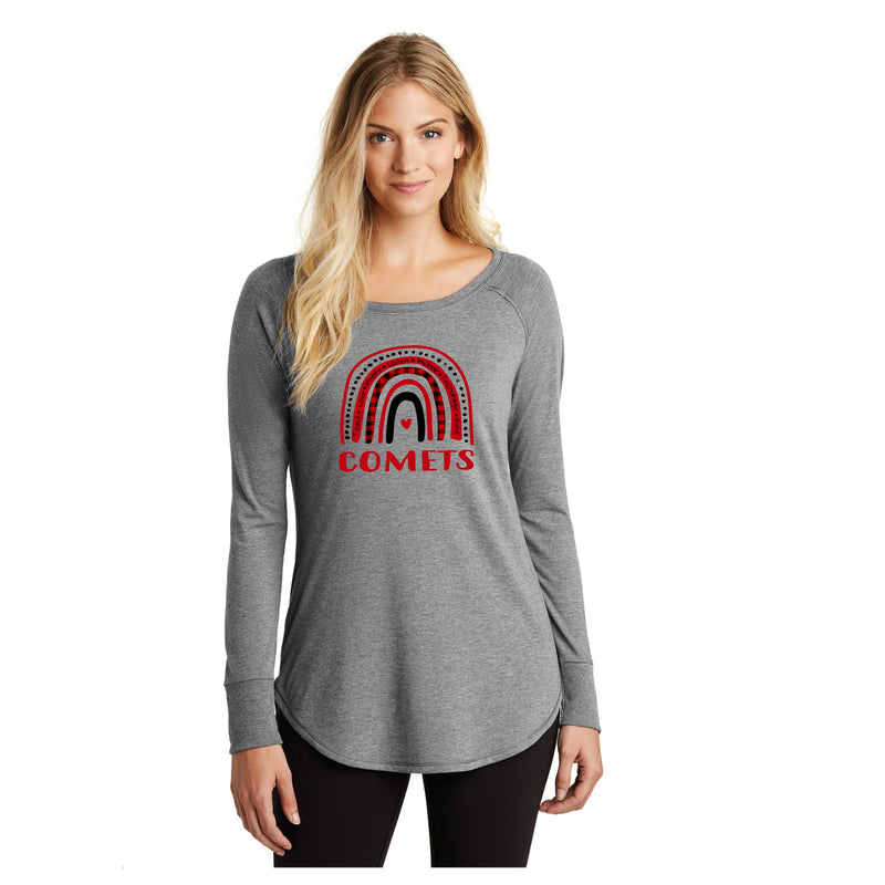 Ladies Perfect Long Sleeve Tunic Tee - North Polk (Rainbow)